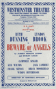 Westminster Theatre. Beware of Angels. Lindop. Ruth Dunning, Lyndon Brook 1959